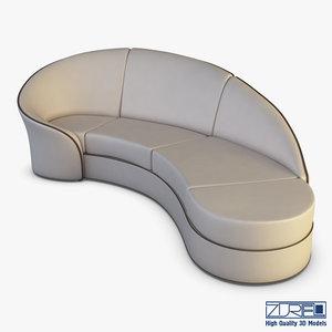 milky way sofa 3D model