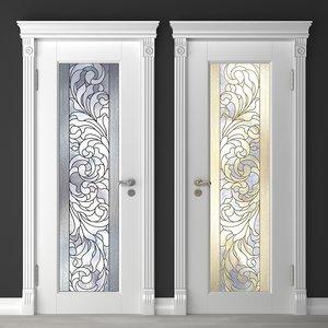 door window glass 3D