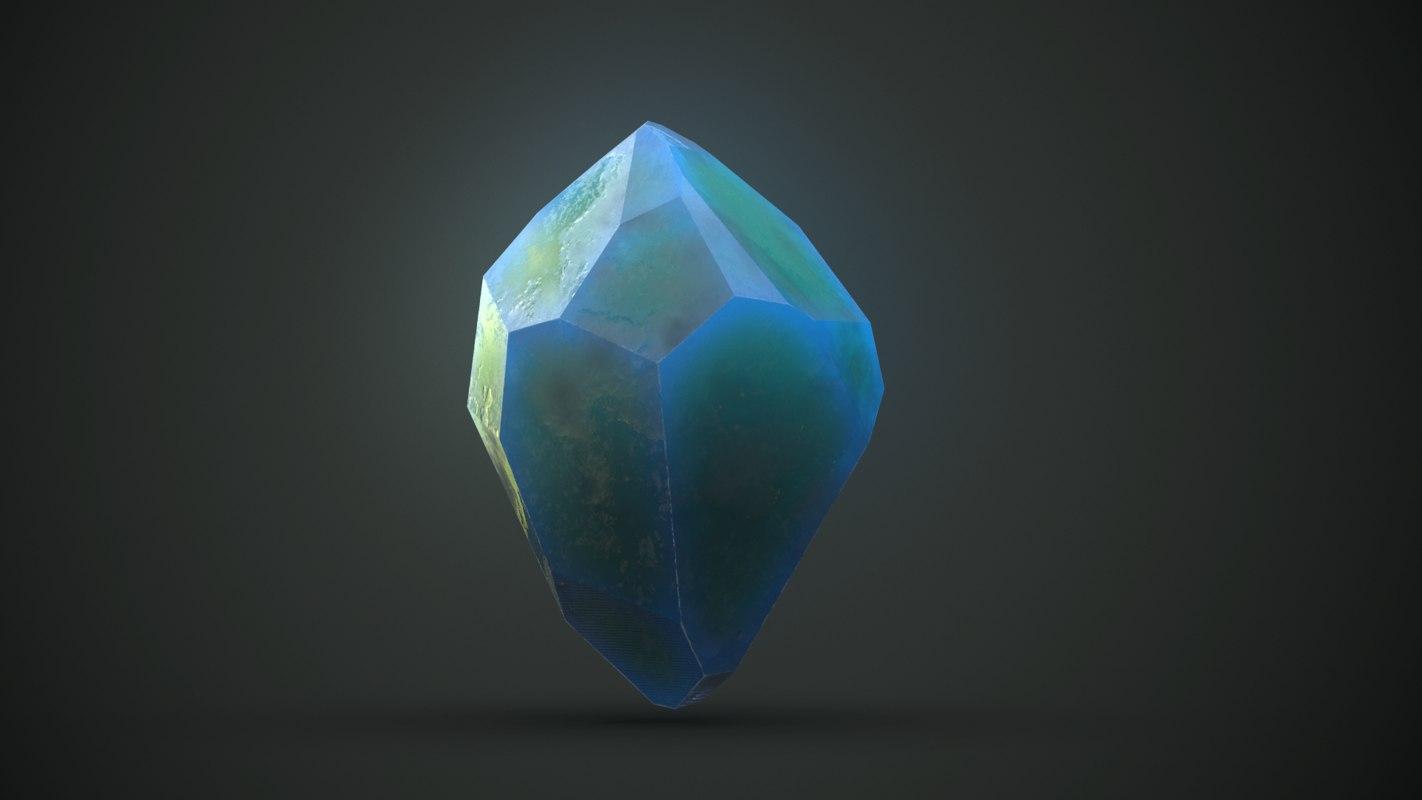 pbr crystals 3D model