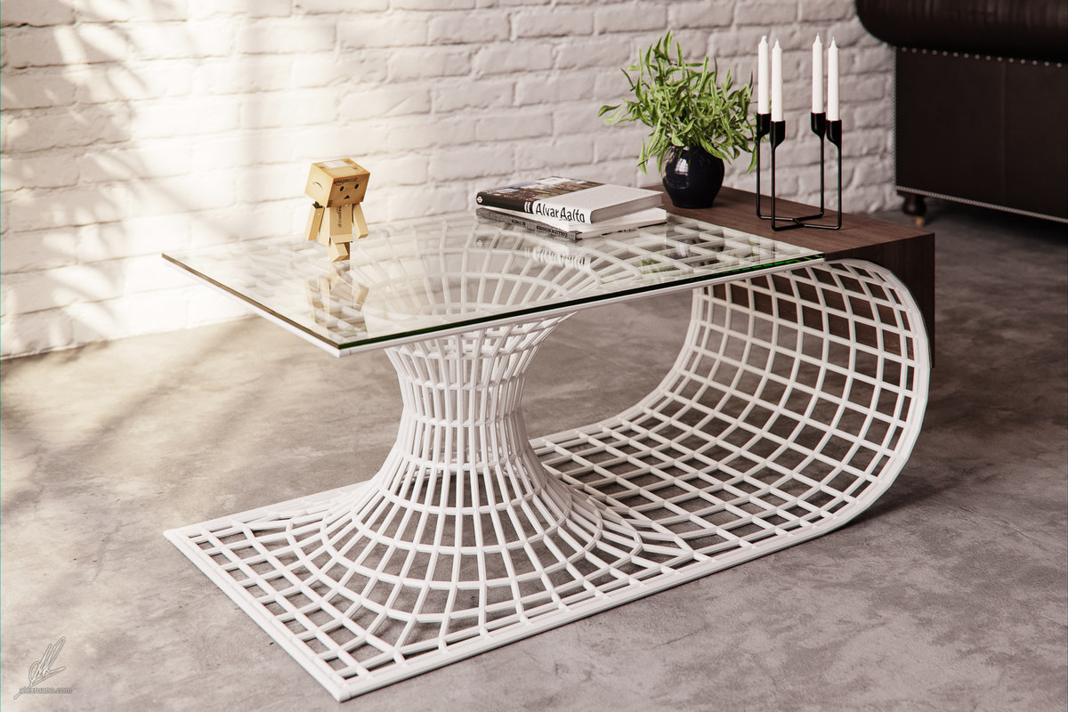 coffee table wormhole model