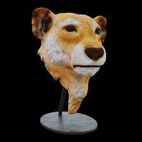 3D statuette lion