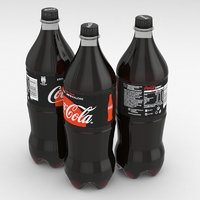coca-cola beverage bottle 3D model