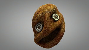 ugly puppet head 3D model