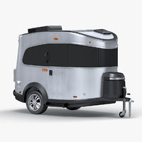 travel trailer airstream basecamp 3D model