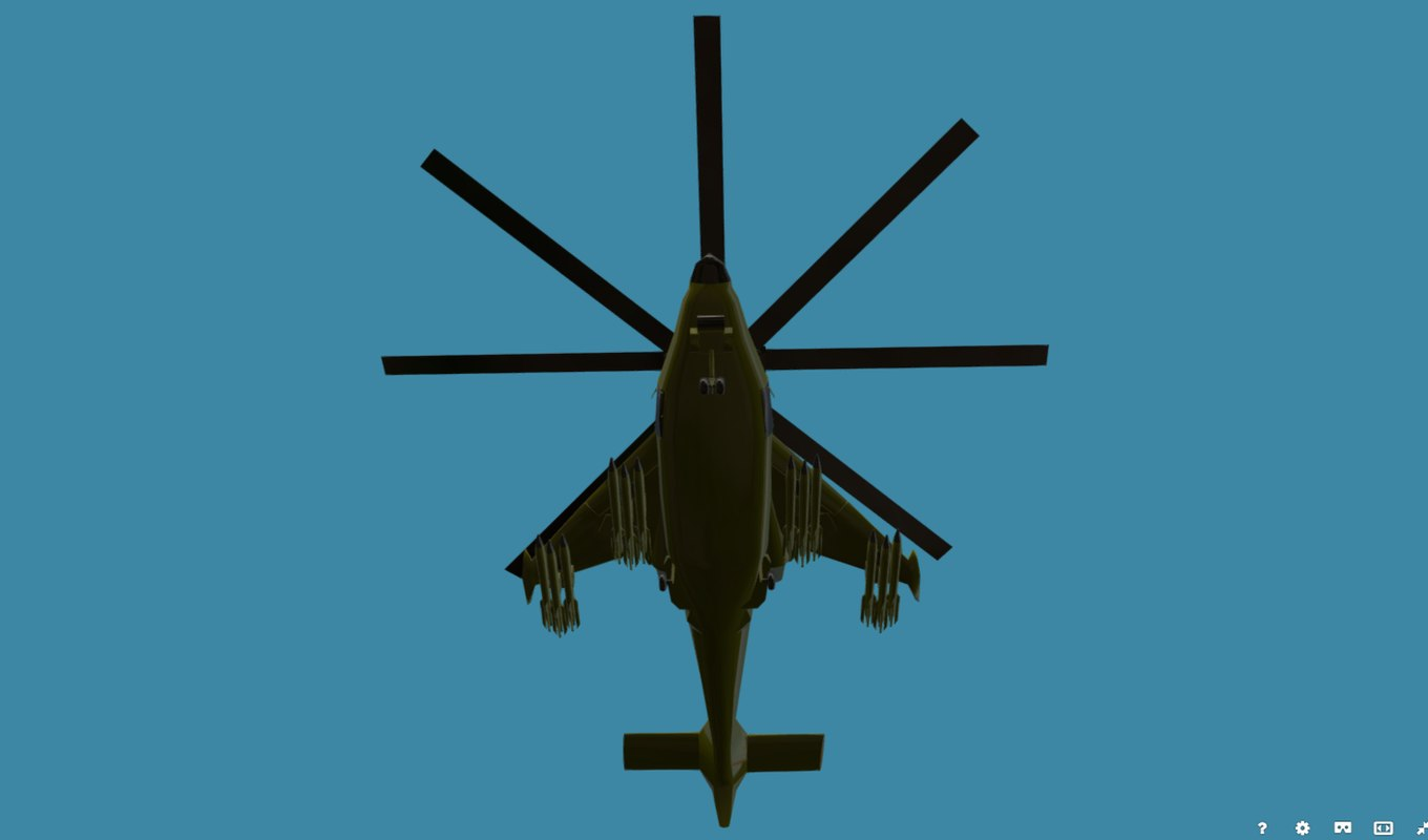 games combat helicopter 3D model