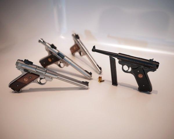 3D pbr pistol mark iv