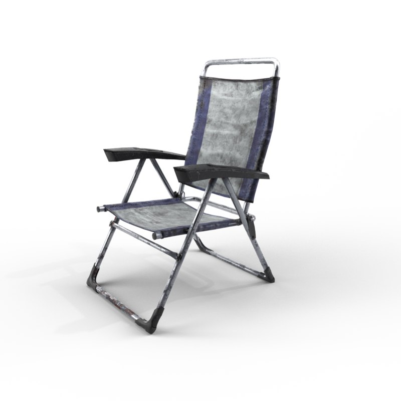 3D model camping chair old