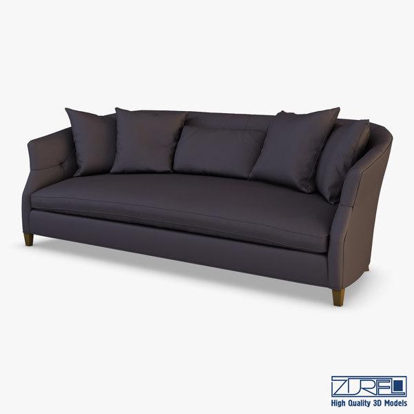 3D luccia hollywood sofa model