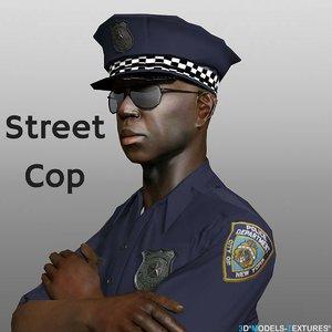 character street cop 3D model