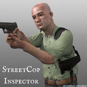 character inspector cop model