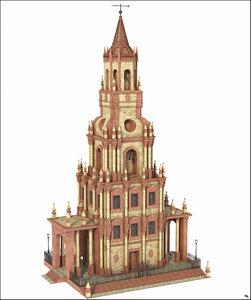 modeled scene 3D model