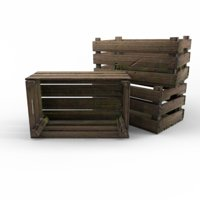 3D wood crate wooden