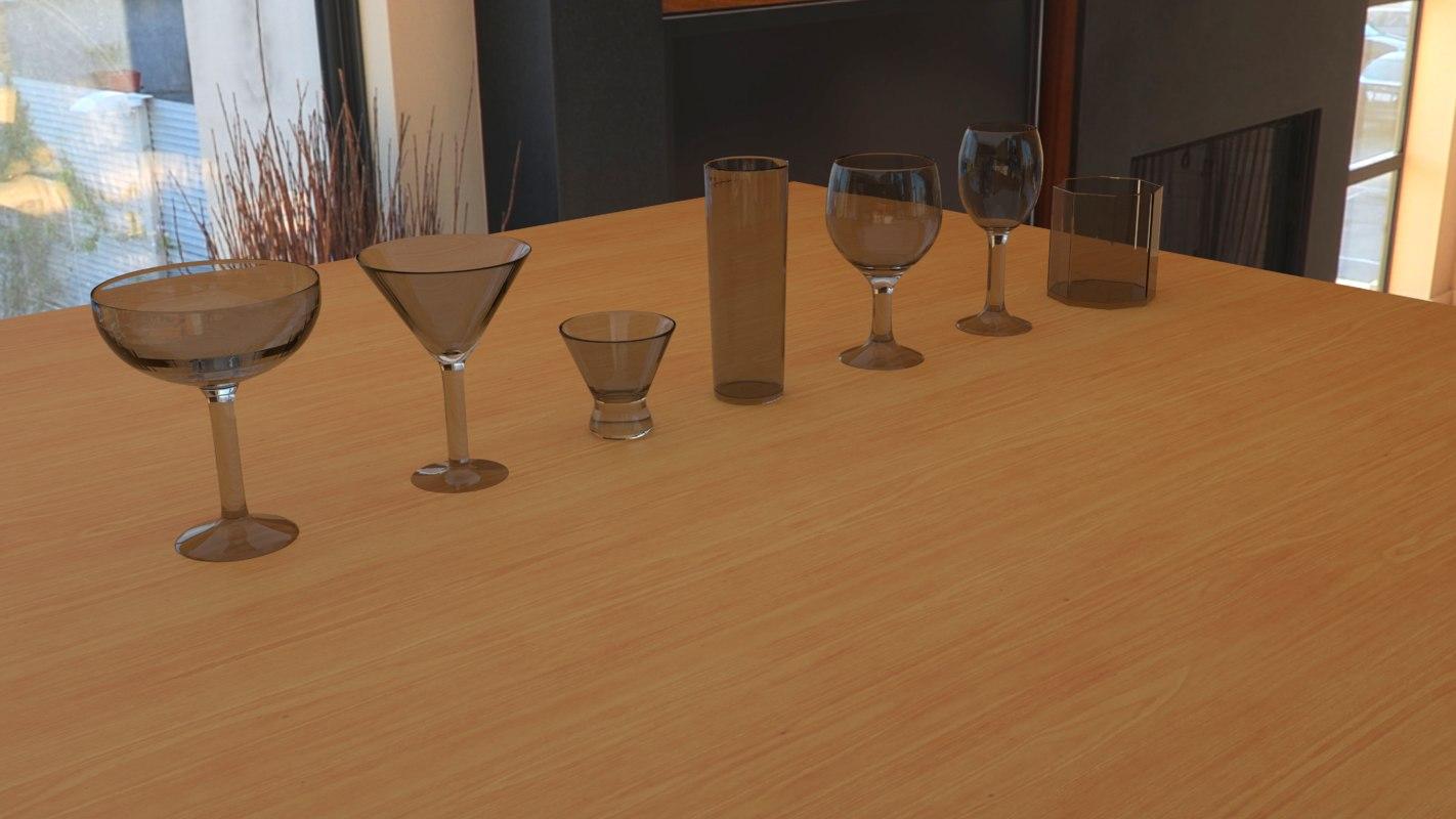 glass alcohol 3D model