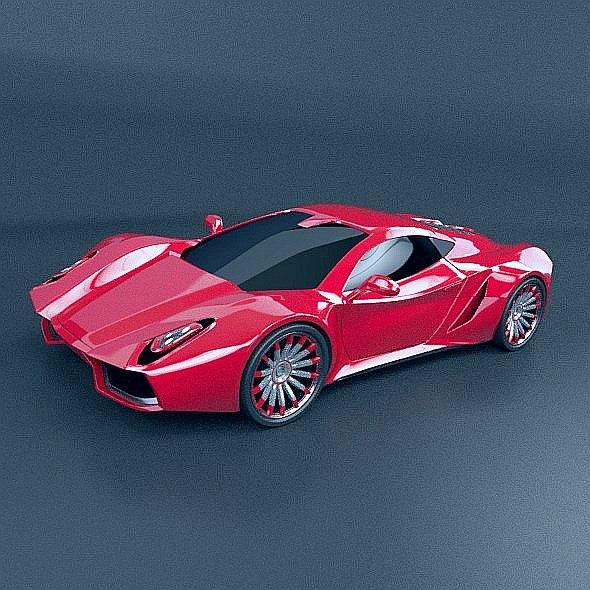 supercar concept car model