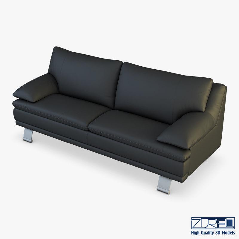 3D model u118 sofa v 1