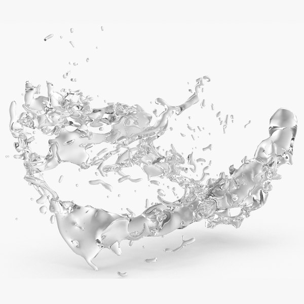 realistic splash 3D