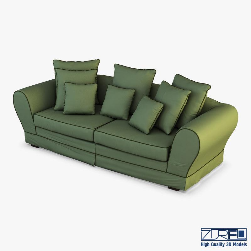3D casa sofa
