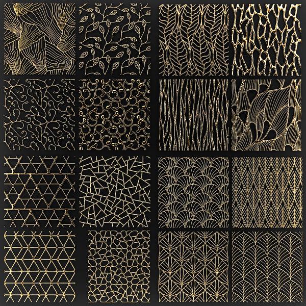 golden lattice 3D model