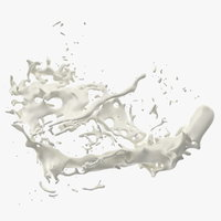 realistic milk splash 3D model