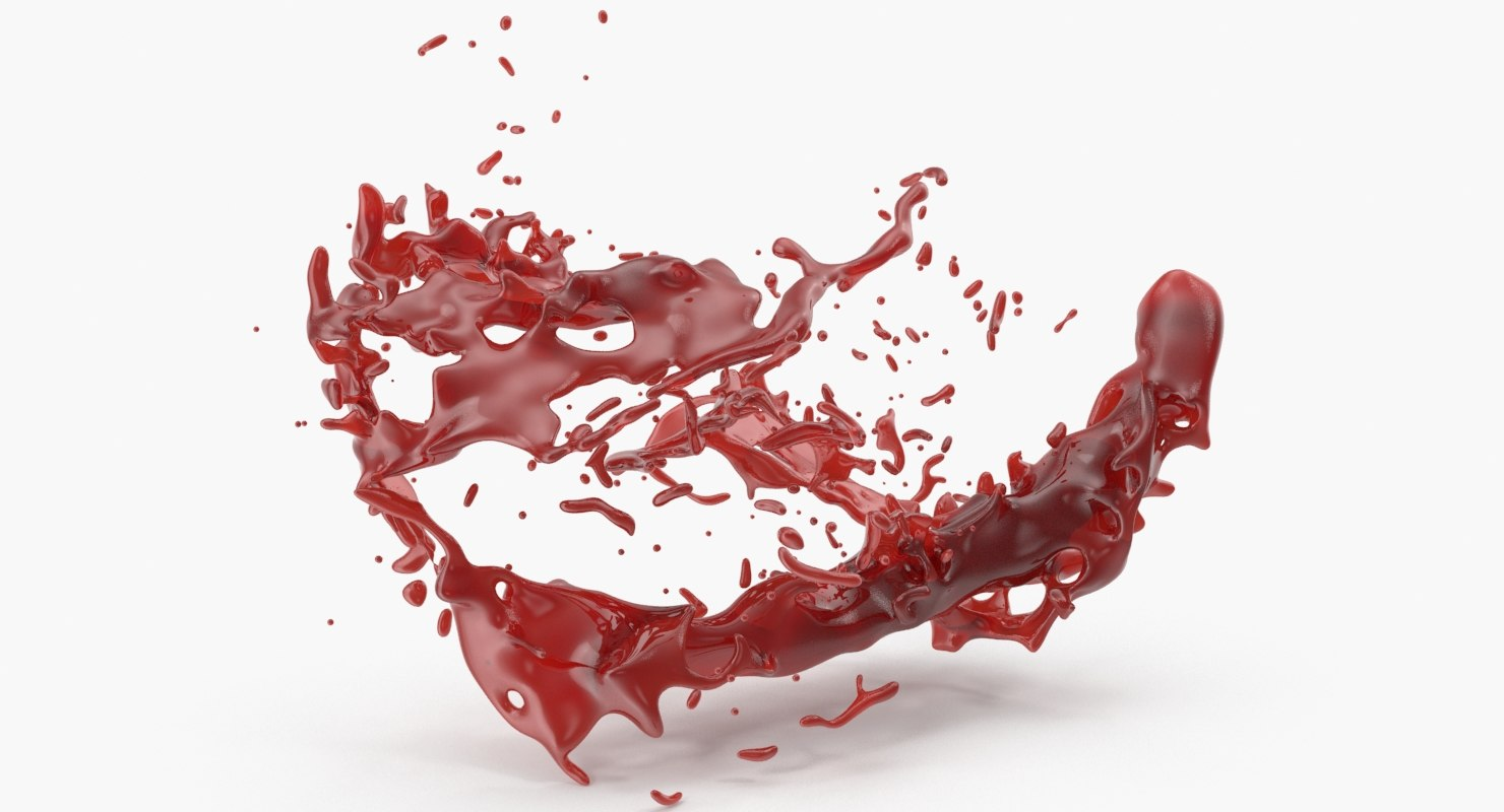 realistic blood splash model