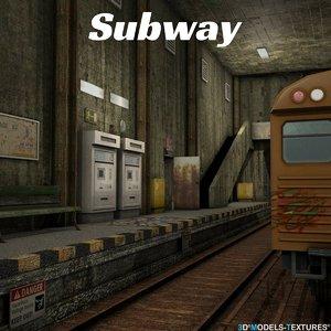 3D subway model