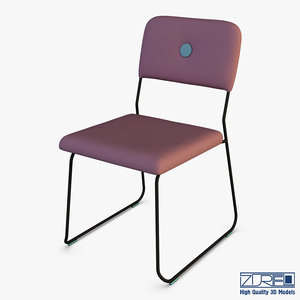 3D feline chair model