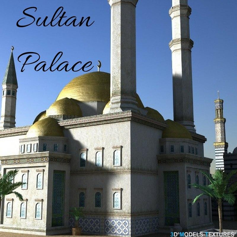3D sultan palace model