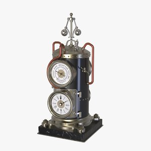3D model french vertical boiler clock