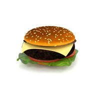 real hamburger 3D