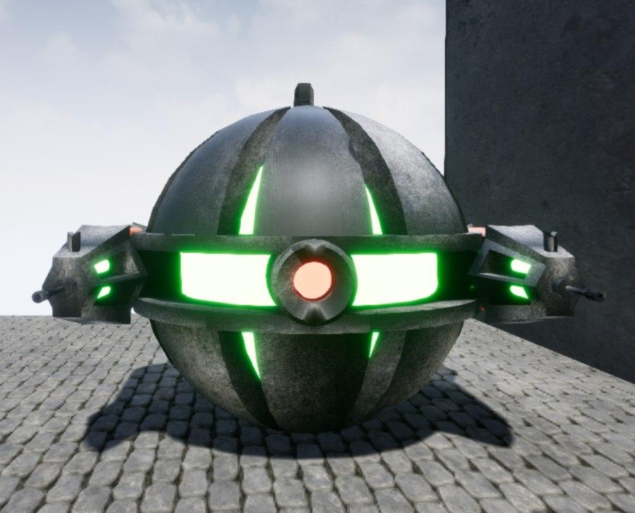 battle drone 3D model