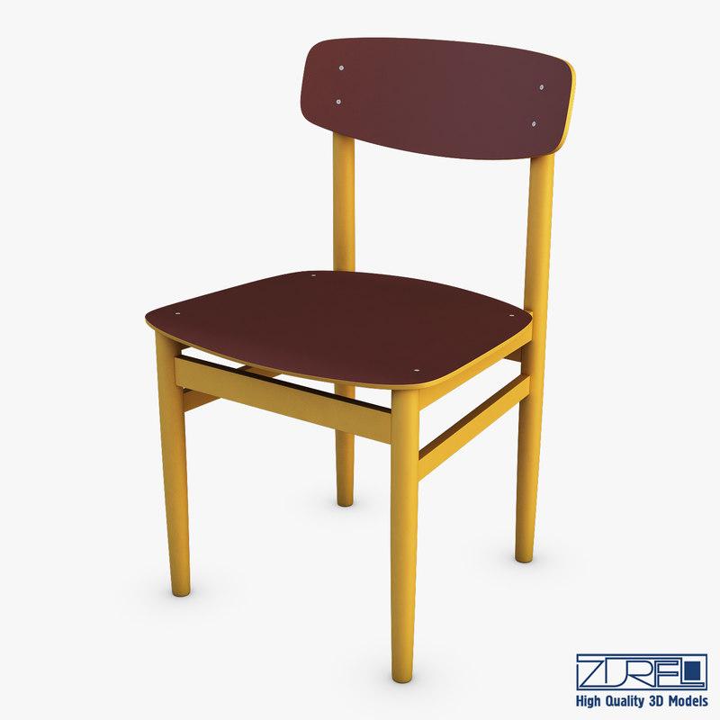 3D modern green dot chair
