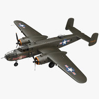 3D mitchell medium bomber b-25 model