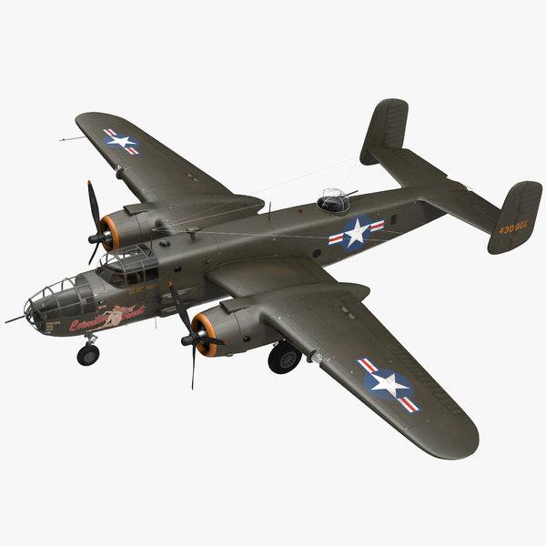 3D mitchell medium bomber b-25 model