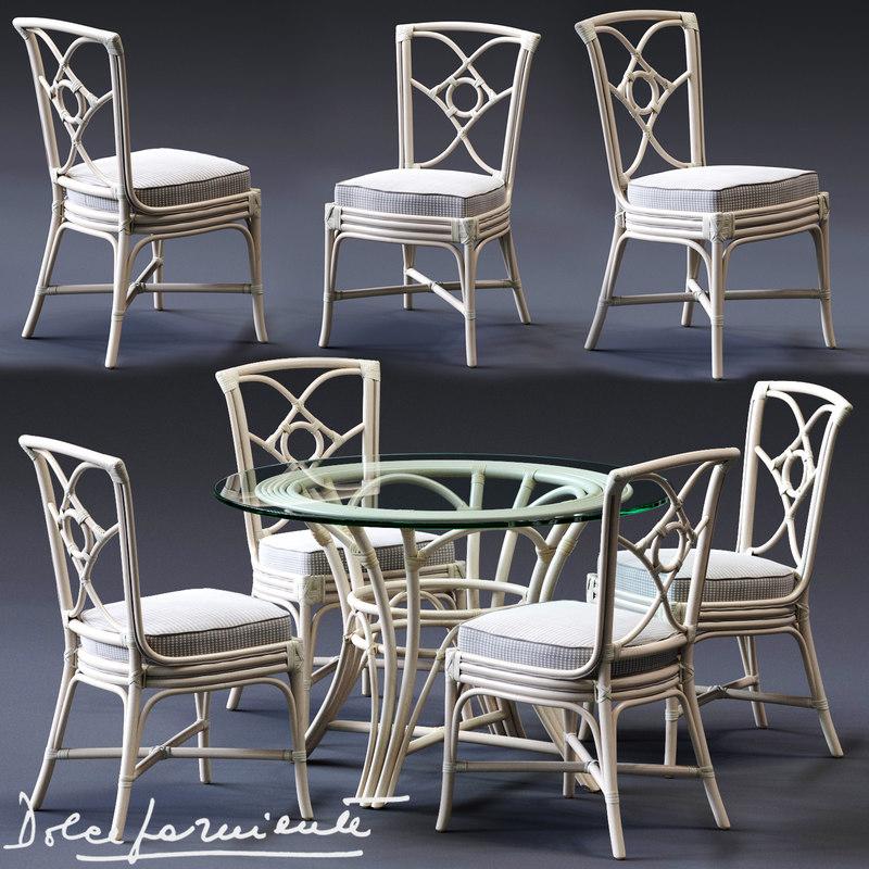 3D model dolcefarniente ortensia chair irene