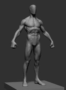 3D hero figure