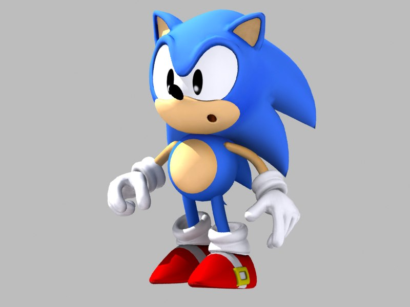 Rigged Classic Sonic Hedgehog 3d Model Turbosquid 1211536