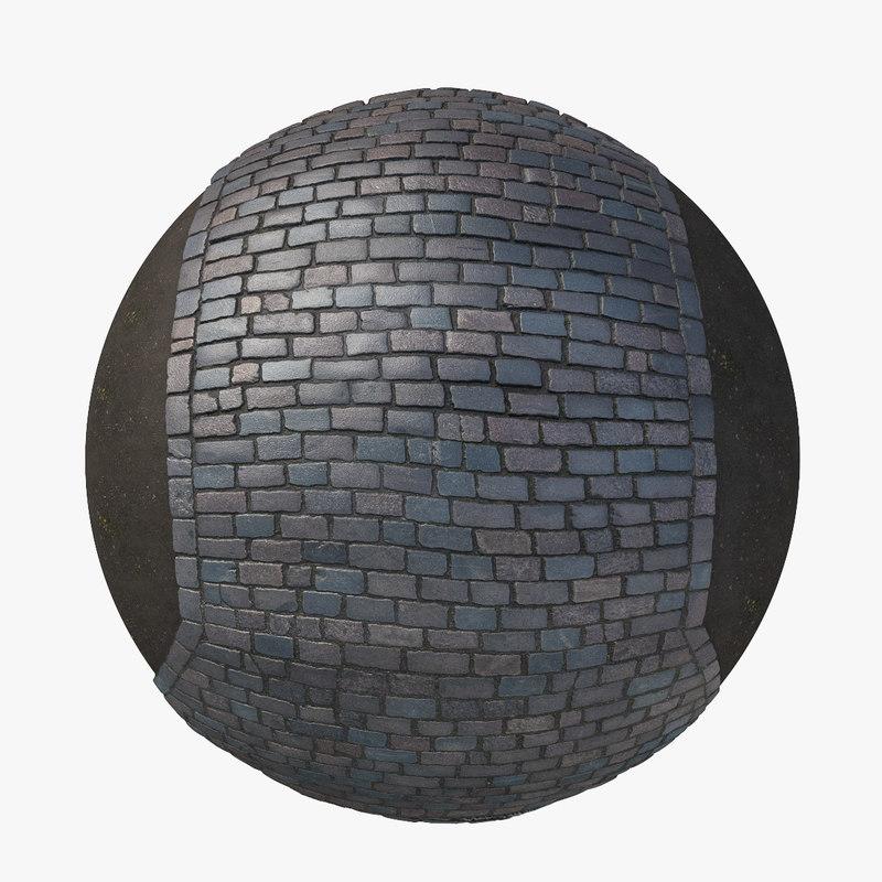 3D pavement cobblestone scan