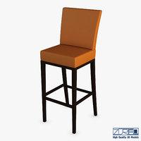 carman bar stool chair 3D model