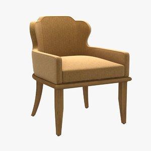 3D model chair charter furniture halsey