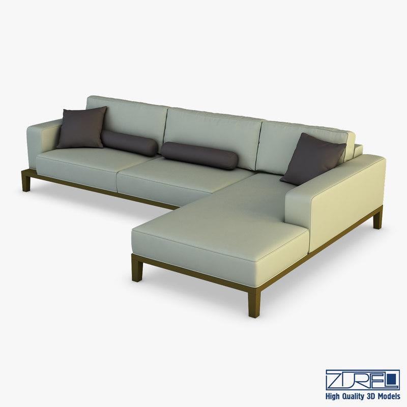 milano sofa 3D model