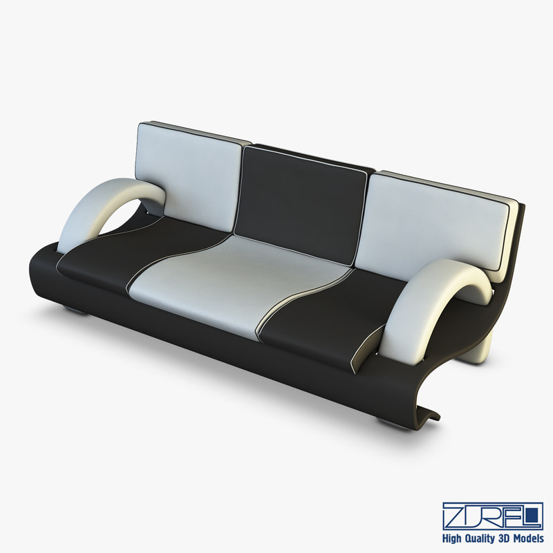 3D chess sofa model