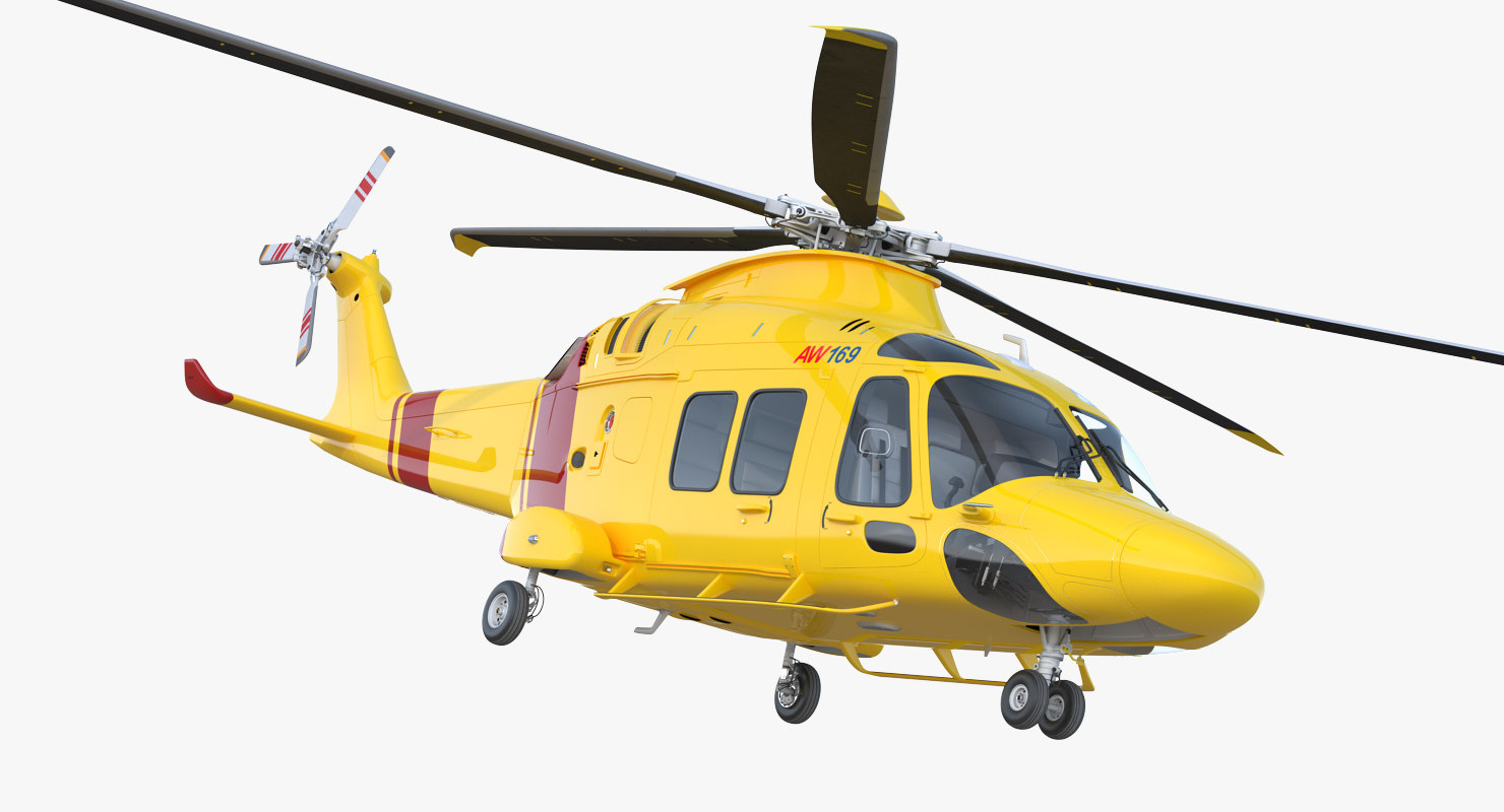 3D helicopter agustawestland aw169