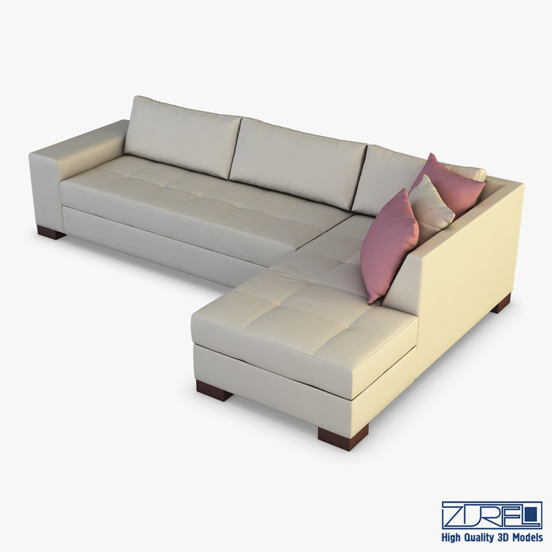 chocolate sofa 3D model