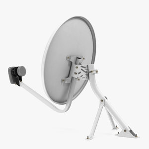 3D home satellite dish