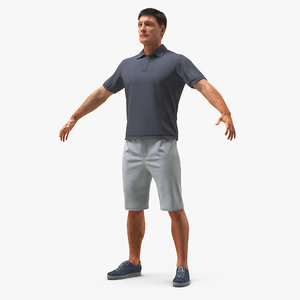 3D man casual style 2 model