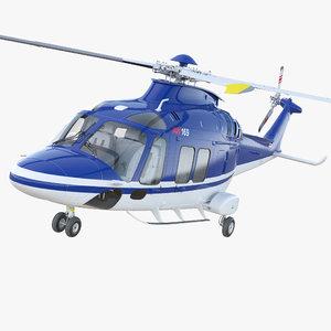 multirole helicopter agustawestland aw169 3D model
