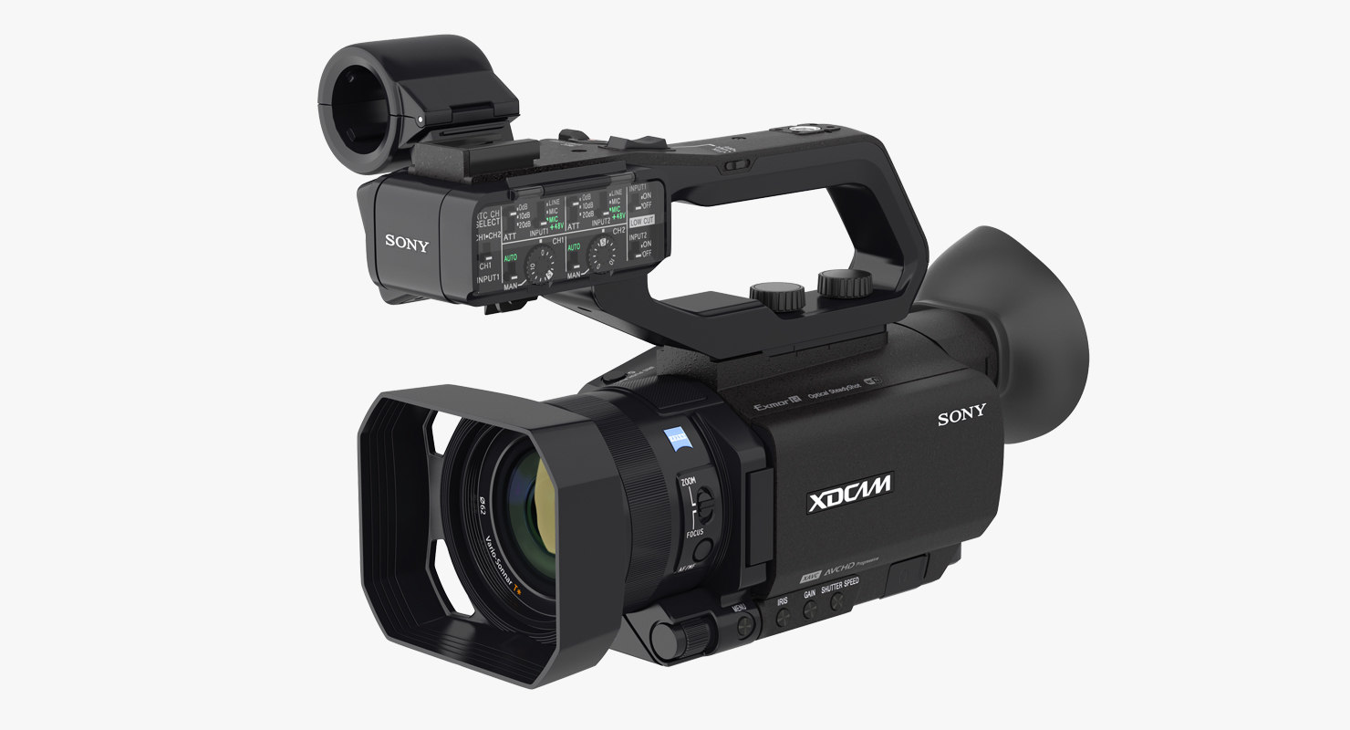 professional xdcam compact camcorder 3D model