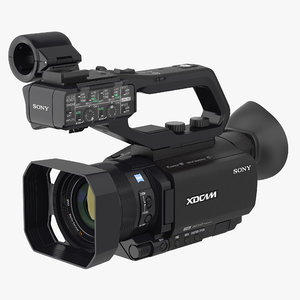 professional xdcam compact camcorder 3D model