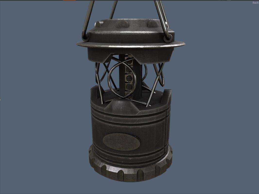 3D modern lantern model