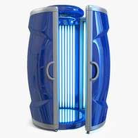 tanning bed solarium vertical 3D model